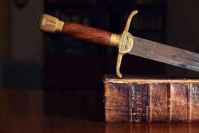Sword On Old Bible